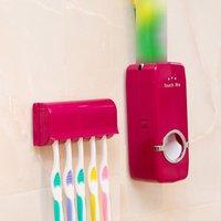 Bathroom Accessories Set Tooth Brush Holder Automatic Toothpaste Dispenser Holder Toothbrush Wall Mount Rack Bathroom Tools Set