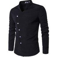 wholesale custom design mens long sleeves white color dress shirts