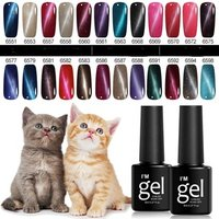 Fangxia 2019 Hot Sell 24 Colors Cat Eye Lacquer UV LED Sock Off Nail Gel Polish For Nail Salon