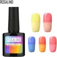 Rosalind color changing gel lacquer 10ml 30colors temperature change gel nail polish soak off uv led gel