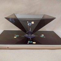 Creative Gifts 3D Holographic Hologram Display Pyramid Stand Projector For Tablet Phone