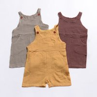 Newborn Baby Boys Girl Summer Cotton Linen Romper Jumpsuit Sleeveless Solid Outfits Clothes Casual Baby Clothing Rompers