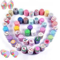 'Colorful 100 Pcs Cupcake Paper Cases Cup Cake Wrappers Liners Holder Packaging Containers Baking Cups Boxes Pastry Decoration