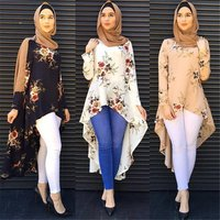 Cross-Border Exclusive Fashion Swallowtail Blouse Muslim Blouse Islamic Clothing Abaya for Women