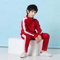 Lovely  nice sweat and custom made tracking suit boys kids tracksuit fitted tracksuit kids plain tracksuit