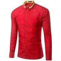 25GD016 Wholesale High Quality Cotton Men Dress Shirts Office Long Sleeve Latest Formal Shirt Designs For Men