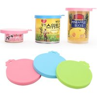 'Special Offer Pet Can Cover Lids Silicone Can Lids Cover For Dog And Cat Food Universal Size One Fit 3 Standard Size Food Cans