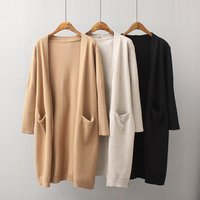 Cotton Long Cardigan Sweater Women Wool De Mujer Girls