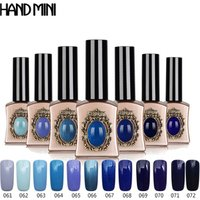 2019 new arrival blue collection perfume led gel nail polish uv gelcolor