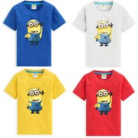 Summer Wholesale Children Clothing   Casual Short Sleeve  T-Shirt  With Cartoon Printed  For Kids Boys From China