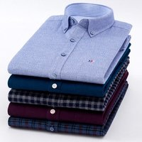 Wholesale 100% Brushed Cotton Mens Shirts Long Sleeve Dress Shirts