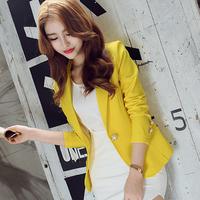 Fashion Slim Women Blazers Autumn Suit Jacket Female Work Office Lady Suit Black Business Blazer Coat Y11538