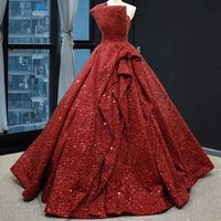 RSM66838 sequins evening gown designs for fat girl ball gown red dress for women