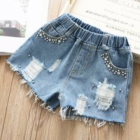 baby girls jeans shorts children ripped baby girl shorts boutiques girls clothing children clothes wholesale stock lots k20091
