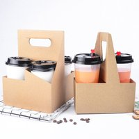 'Wholesale Packaging Supplies Corrugated Coffee Paper Cup Holder Box With Handle