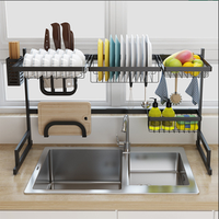 standing  Stainless Steel Over Sink Drying Rack Dish Drainer Rack for Kitchen