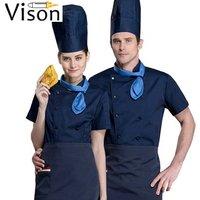 Custom logo sushi restaurant unisex chef coat uniform