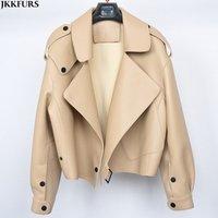 New Arrival Crop Design Leather Jacket Genuine Hot Leather Coat Motorcycle Jacket Fashion