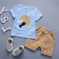 Hot sale baby boy summer clothes 2 pieces sets bulk wholesale kids clothing