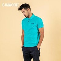 SIMWOOD 2019 summer embroidered logo polo shirt 100% cotton classic top short sleeve t-shirt high quality plus size tees 190295