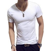 Cheap Pure O-neck Slim Fit Short Sleeve Men T Shirt