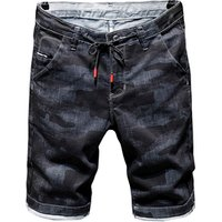 High quality jeans shorts Mens summer stretch denim  pants boys short pants Young  jeans fit skinny breathable Five trousers