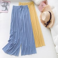 B23289A Women Ice-silk wide leg pants summer new style Casual trousers
