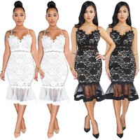 SAQ218 fishtail design evening party wear lace backless sexy women mini bodycon dress