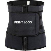 Women Hot Sweat Neoprene Waist Trainer Corset Trimmer Belt Body Shaper Slimming Waist Cincher Customized logo