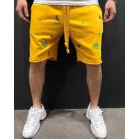 Embroidered Mens Shorts Trousers Sports Casual Fashion Summer Pants