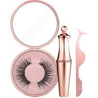 2019 Hot Eyes Makeup Set 3 In 1 Magnetic False Eyelash+Liquid Eyeliner+Eyelash Tweezer