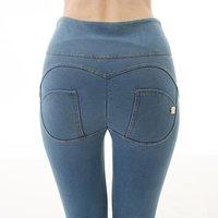 Seamless high waist pencil slim skinny yoga workout running casual jeans long leggings denim pants for women