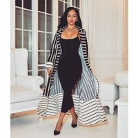 2018 Spring long fashion african print coat wholesale trench lady coat