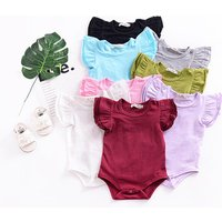 Baby Rompers Short Sleeve 100%Cotton Overalls Solid Summer Newborn Clothes Roupas De Bebe Boys Girls Jumpsuit and Clothing