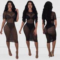 2019 Fashion Sexy Mesh Bikini Cover Up Women Swimwear Beach Dress MC5529