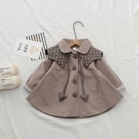 OEM Service 0-6 Years Old Korean Style Girl Baby Trench Coat