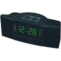 "Retro Antique Large Table Bedside Snooze Sleep Timer 1.8"" LED Digital AM FM Radio Alarm Clock"