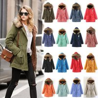 Wholesale Fashion Plus Size Zipper Hooded Ladies Girls Loose Casual Base Female Long Cotton Down Winter Faux Lamb Fur Coat Women
