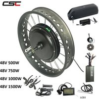Big Promotion 48V 1500W Electric Fat Tyre bike Kit Brushless Hub Motor Rear Snow Wheel 1500W bicycle Conversion Kit with battery