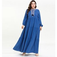 Muslim  Pleated  Dress Islamic Abayas For Women Kaftan Modest Turkish Dress