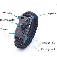 'Wholesale Paracord Survival Bracelet Hiking Gear Travelling Camping Gear Kit Paracord Bracelet Survival Equipment