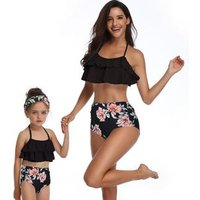 Girls bathing suit Mother and Daughter Family Matching Swimsuit Floral Baby Girl Bikini Set