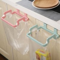 Plastic  Bag Holder Storage Square Hanging On Cupboard Easy Save Space Portable for Kitchen And Room