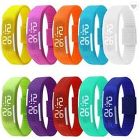 2019 Silicone LED Light Digital Sport Wrist Watch Kid Women Girl Men Boy Led Touch Silicone Watch