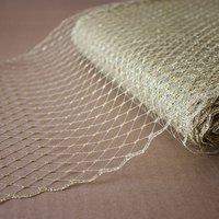 "9""(22cm) Gold Silver Birdcage Metallic Veils Netting Millinery Hat Veil For Women Fascinator Veiling Headpiece ACC Bridal Veils"