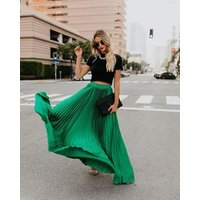 2019 New Arrival Womens Bohemian Style Elastic Waist Band Cotton Linen Long Maxi Skirt Dress