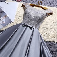 2019 cheap wholesale Lace up gray and red wine short bridesmaid dresses new spring summer prom wedding party dress