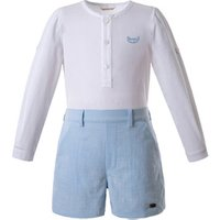 Pettigirl Baby Clothes Long Sleeve Tops And Blue Shorts Baby Boy Clothing Set