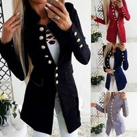Long Sleeve Single-breasted Slim Ladies Small Suit Jacket