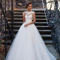 Slim simple large size  bride wedding dress
